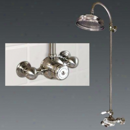 American Bath Factory F3-3266-oc-f-93305-kl-oc Wall Rise Shower, Krystal Lever Ii Handle, Experienced World