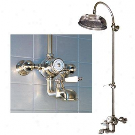 American Bath Manu~ F3-3268-oc-f9-3115-fl-oc Wall Rise Shower W/ Tub Filler, Fluted Lever Ii Hand