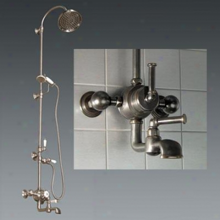 American Bath Factory F3-3289-ob-f9-3139-sl-ob Wall Mount Shower W/ Tub Filler & Handshower, Square
