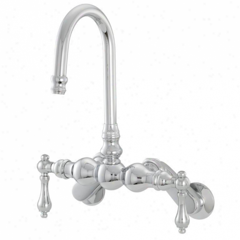 American Bath Factory F3006-ch 300 Succession Bathtub Faucet In Chrome