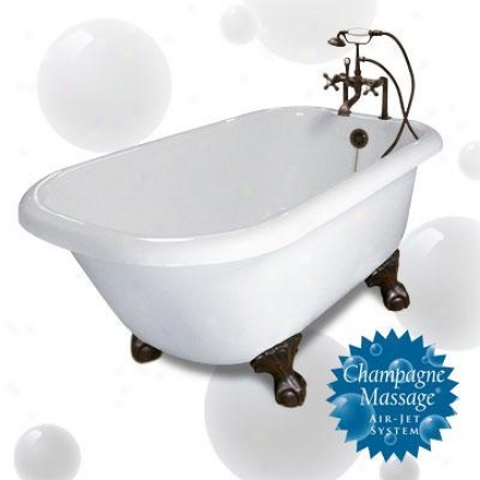American Bath Factory P1-te-ch-ww-lh Triinty Designer Upgrade Bathtub Package Te In White With Chrom