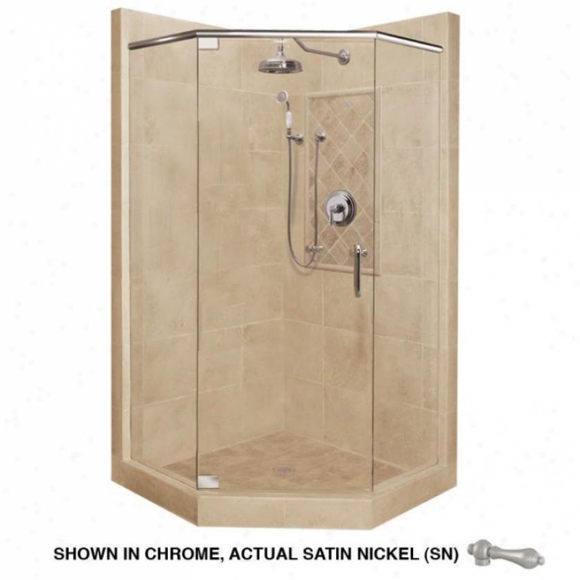 Americam Bath Factory P21-2025p-sn Grand Shower Packahe In Medium Stone