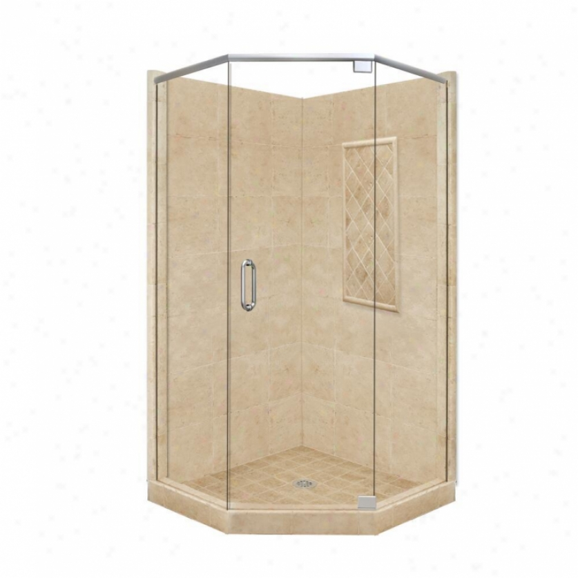 American Bath Factory P21-2117p-ch 36l X 36w Supreme Shower Package With Chrome Accessories