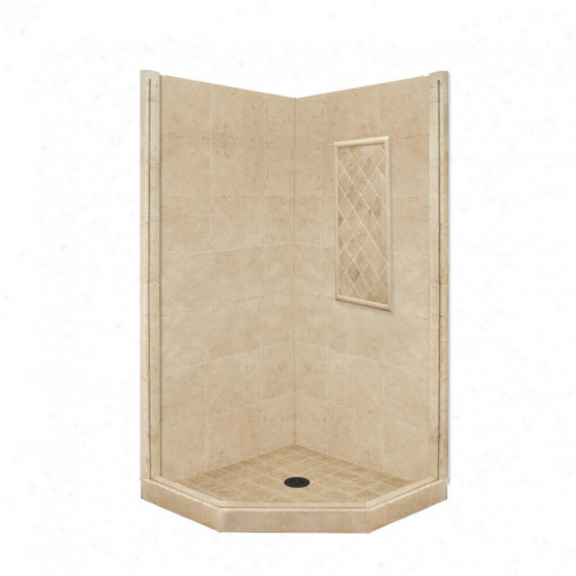 American Bath Factory P21-2309p-ob 60l X 32w Basic Shower Package With Old World Bronze Accessorie