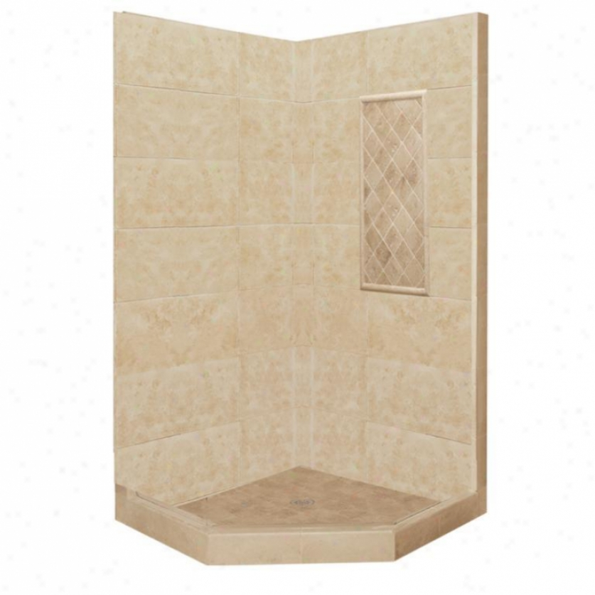 American Bath Factory P21-2324p-ch Basic Shower Package In Medium Stone