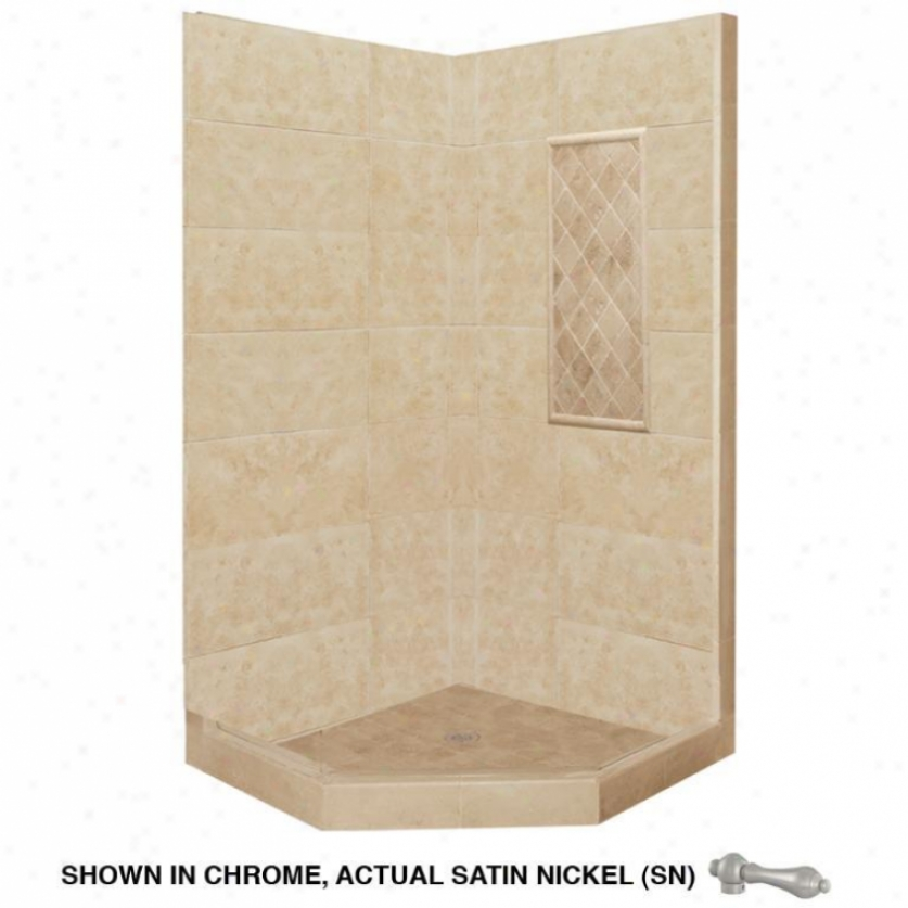 American Bath Factory P21-2325p-sn Basic Shower Package In Medium Stone