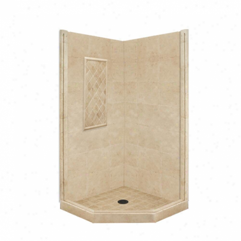 American Bath Factory P21-2336p-ob 54l X 54w Basic Shower Package With Crafty World Bronze Accessorie
