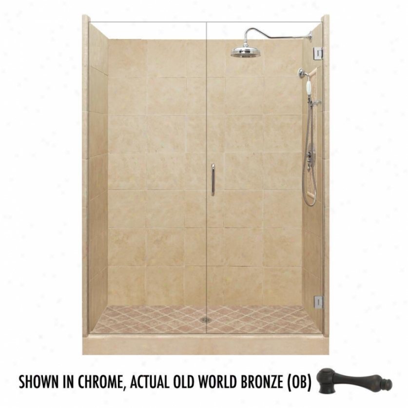 American Bath Factory P21-2516p-ob 48l X 34w Grand Shower Package With Old World Bronze Accessorie