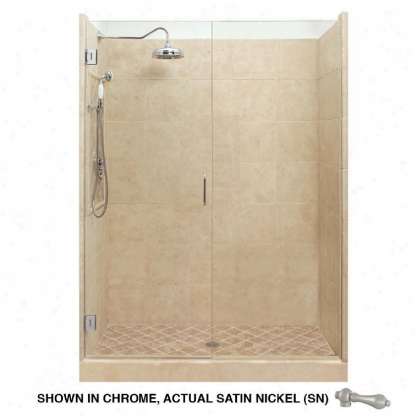 American Bath Factory P21-2523p-sn Grand Shower Package In Medium Stone