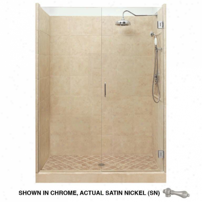 American Bath Fadtory P21-2524p-sn Grand Shower Package In Medium Stone