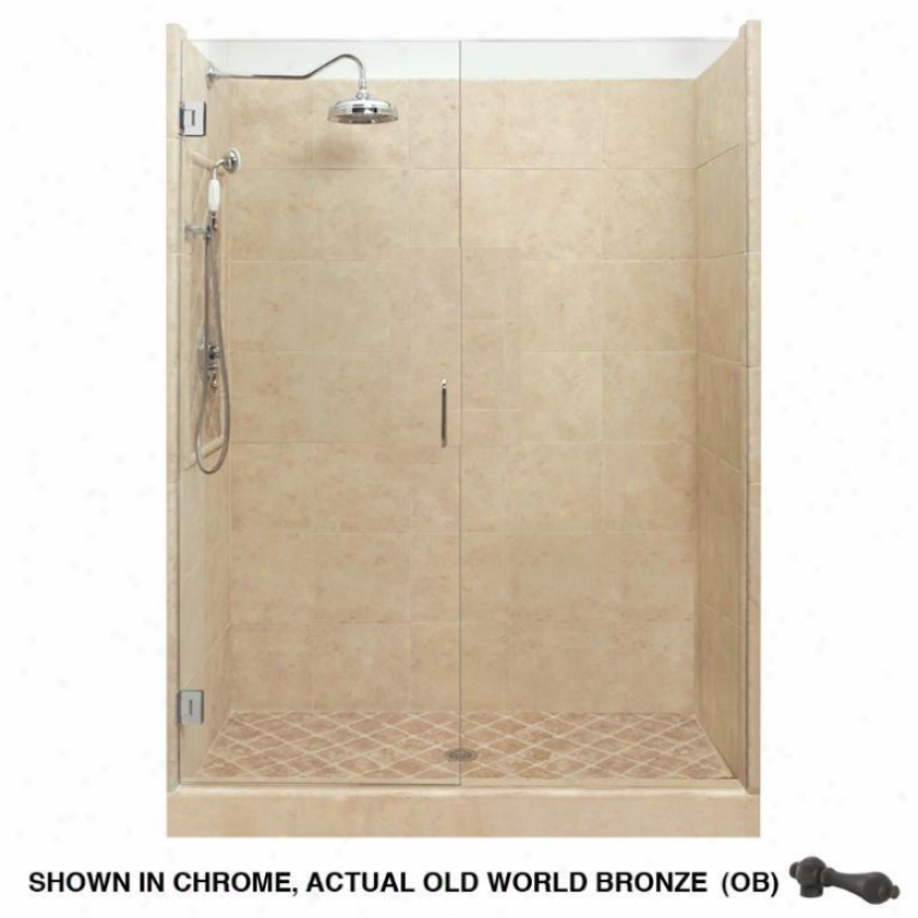 American Bath Factory P21-2529p-ob Grand Shower Package In Medium Stone