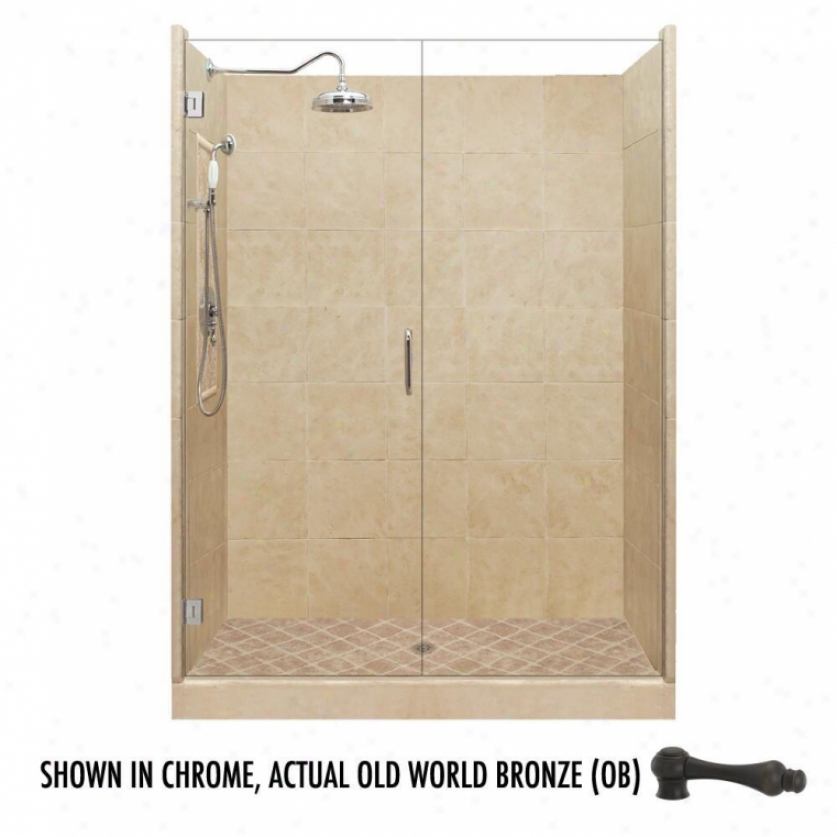 American Bath Factory P21-2541p-ob 60l X 48w G5and Shower Package With Old World Bronze Accessorie
