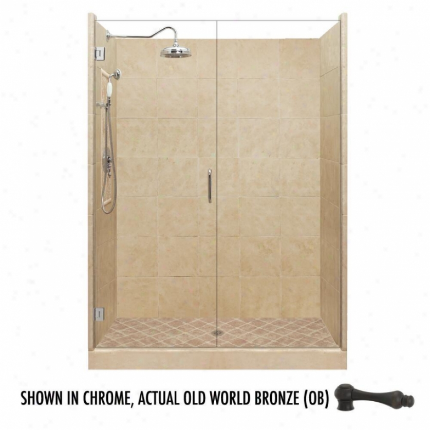 American Bath Factory P21-2543p-ob 54l X 54w Grand Shower Package With Old World Bronze Accessorie