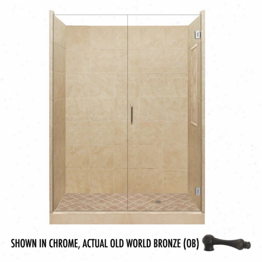 American Bath Factory P21-2622p-ob 60l X 34w Supreme Shower Package With Old World Bronze Accessor