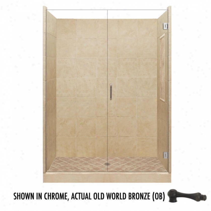 American Bath Factory P21-2634p-ob 42l X 42w Highest Shower Package With Old World Bronze Accessor