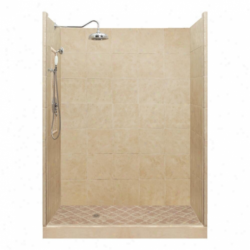 American Bath Factory P21-2713p-ch 60l X 32w Premium Shower Package With Chrome Accessories