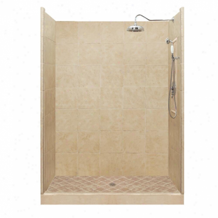 American Bath Factory P21-2720p-ch 60l X 34w Premium Shower Package With Chrome Accessories