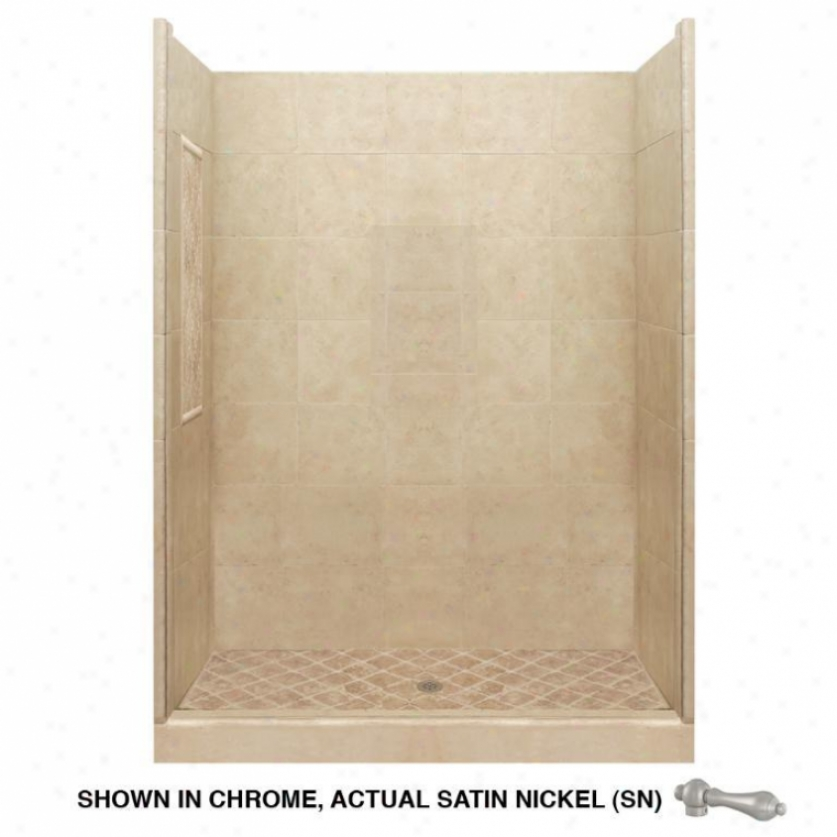 American Bath Factlry P21-2801p-sn Basic Shower Package In Medium Stone
