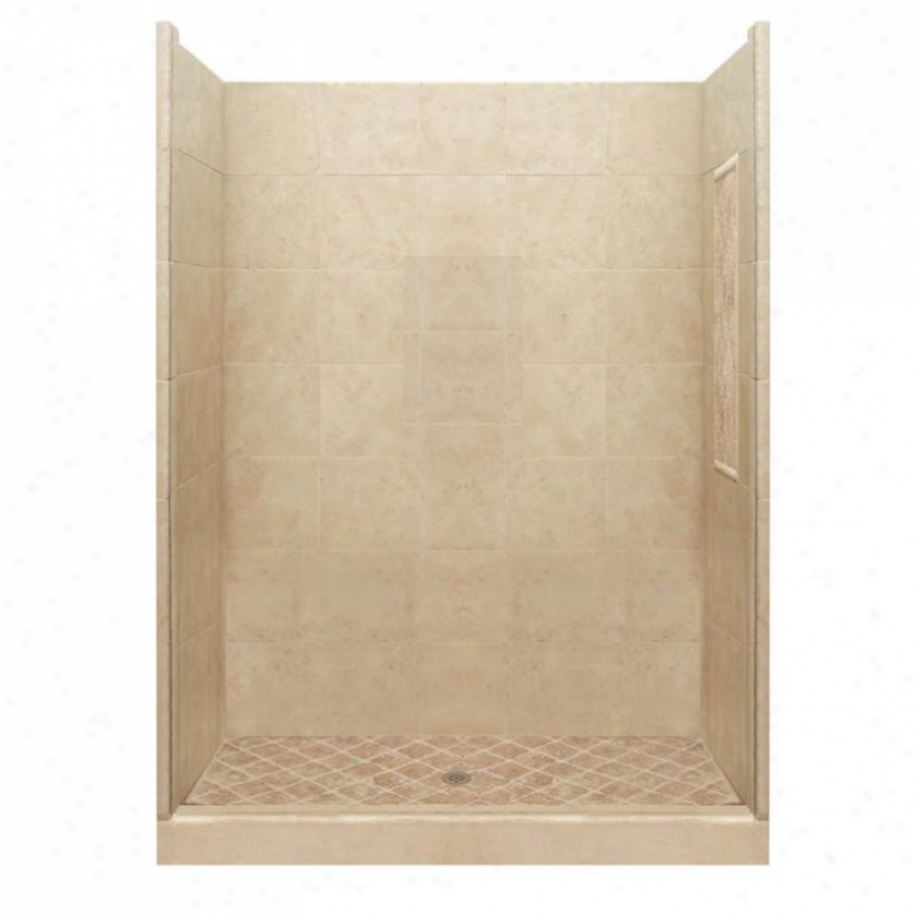 American Bath Manu~ P21-2812p-ch Basic Shower Package In Medium Stone
