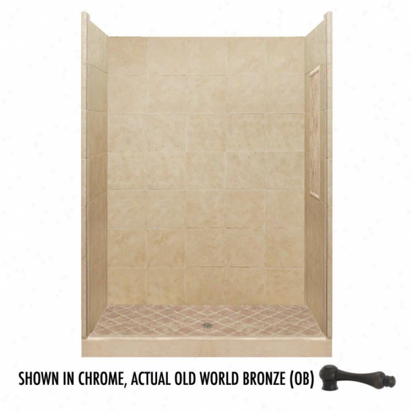 American Bath Factory P21-2826p-ob 48l X 36w Basic Shower Package With Old World Bronze Accessorie