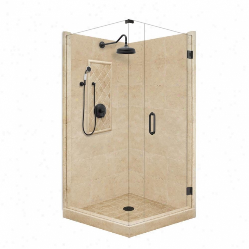 American Bath Factory P21-3028p-ob 42l X 42w Grand Shower Package With Old World Bronze Accessorie