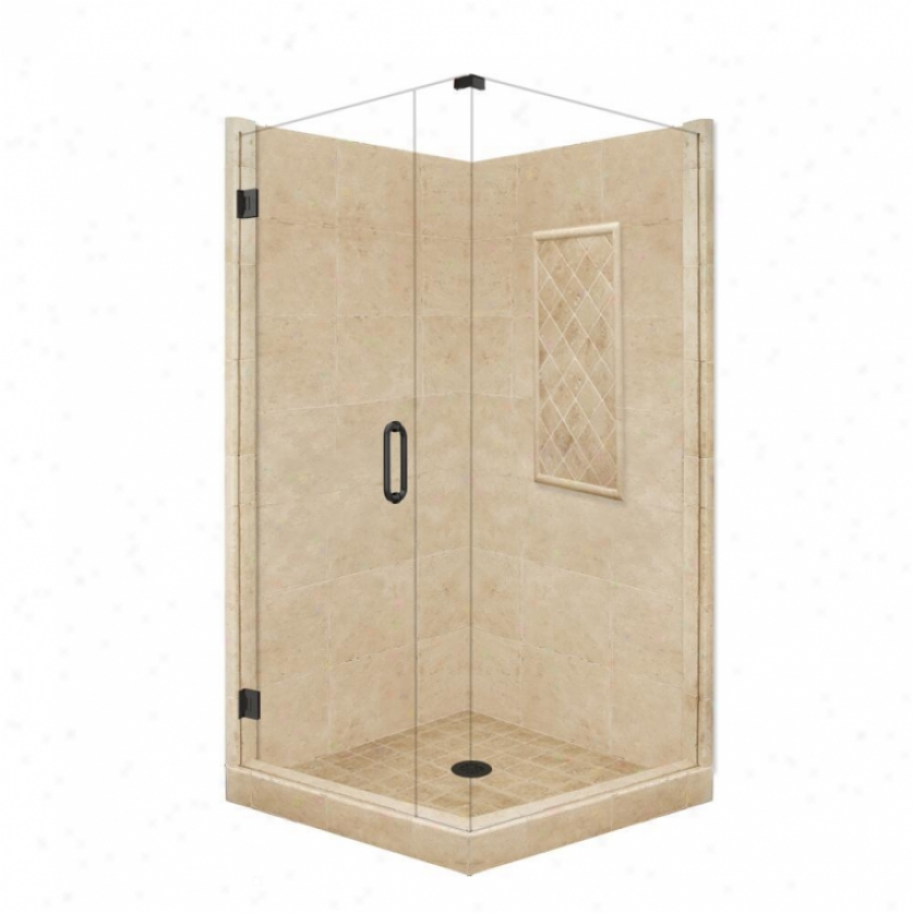 American Bath Factory P21-3101p-ob 60l X 30w Supreme Shower Package With Old World Bronze Accessor