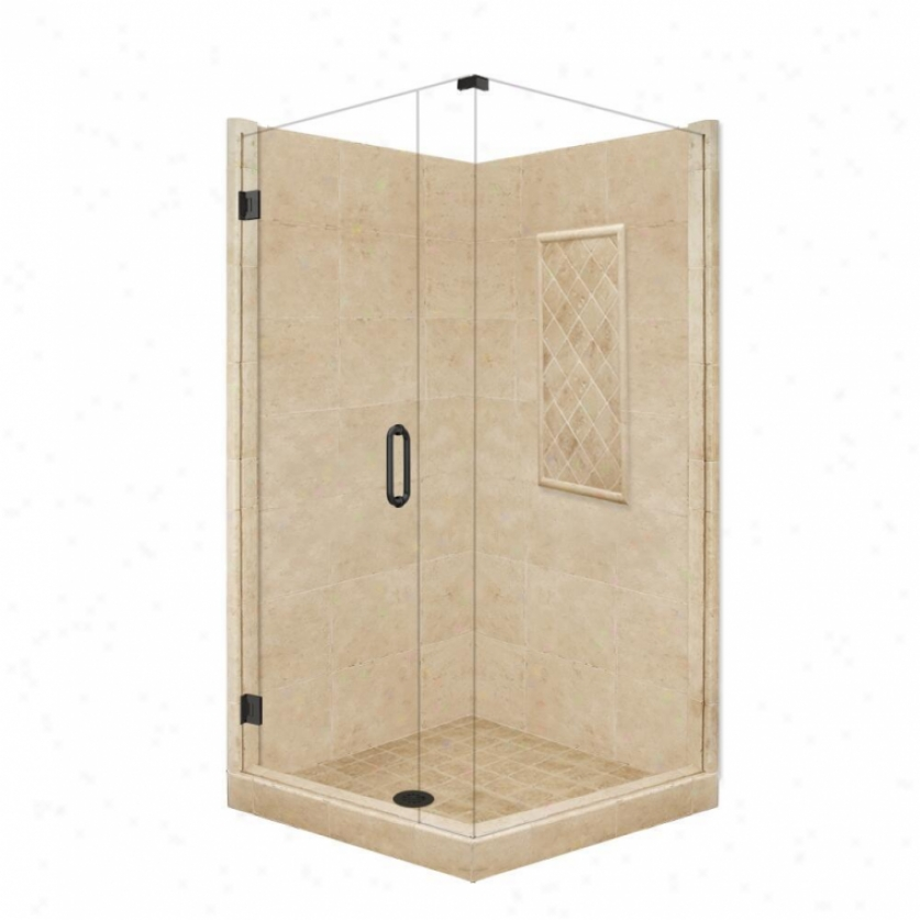 American Bath Manu~ P21-3102p-ob 60l X 30w Highest Shower Packabe With Old World Bronze Accessor