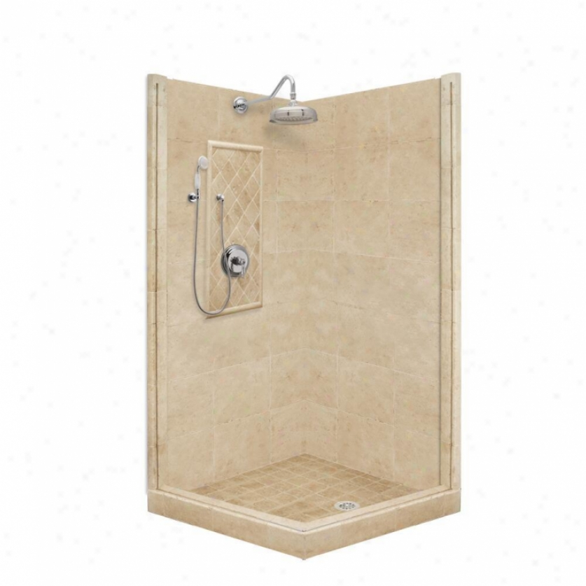 American Bath Factory P21-3202p-ch 60l X 30w Premium Shower Package With Chrome Accessories