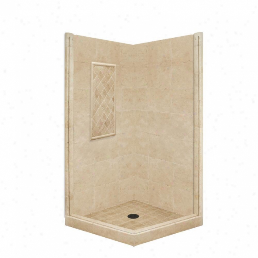 American Bath Factory P21-3301p-ob 60l X 30w Basic Shower Package With Old World Bronze Accessorie