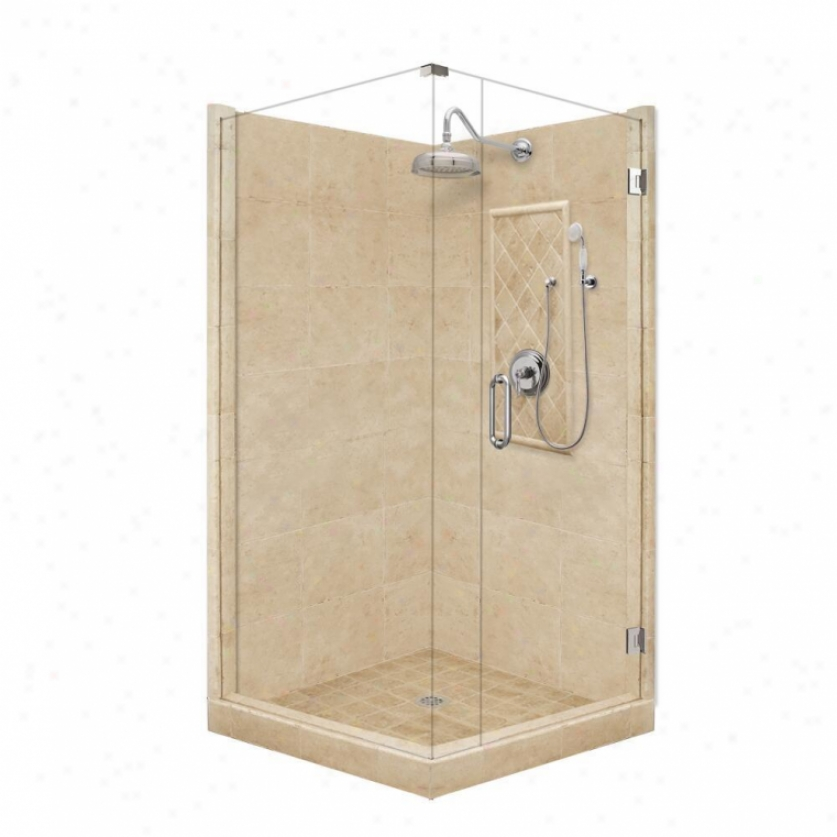 American Bath Factory P21-3532p-ch 54l X 42w Principal Shower Package With Chrome Accessories