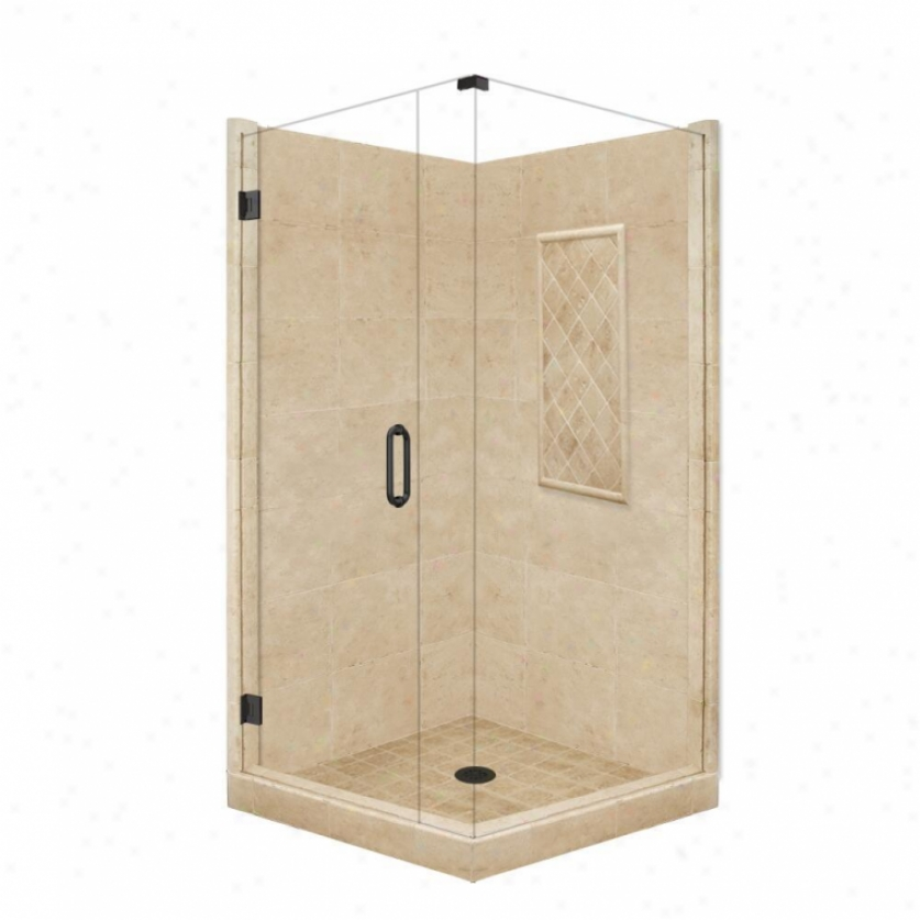 American Bath Fzctory P21-3629p-ob 48l X 43w Supreme Shower Package With Old Wofld Bronze Accessor