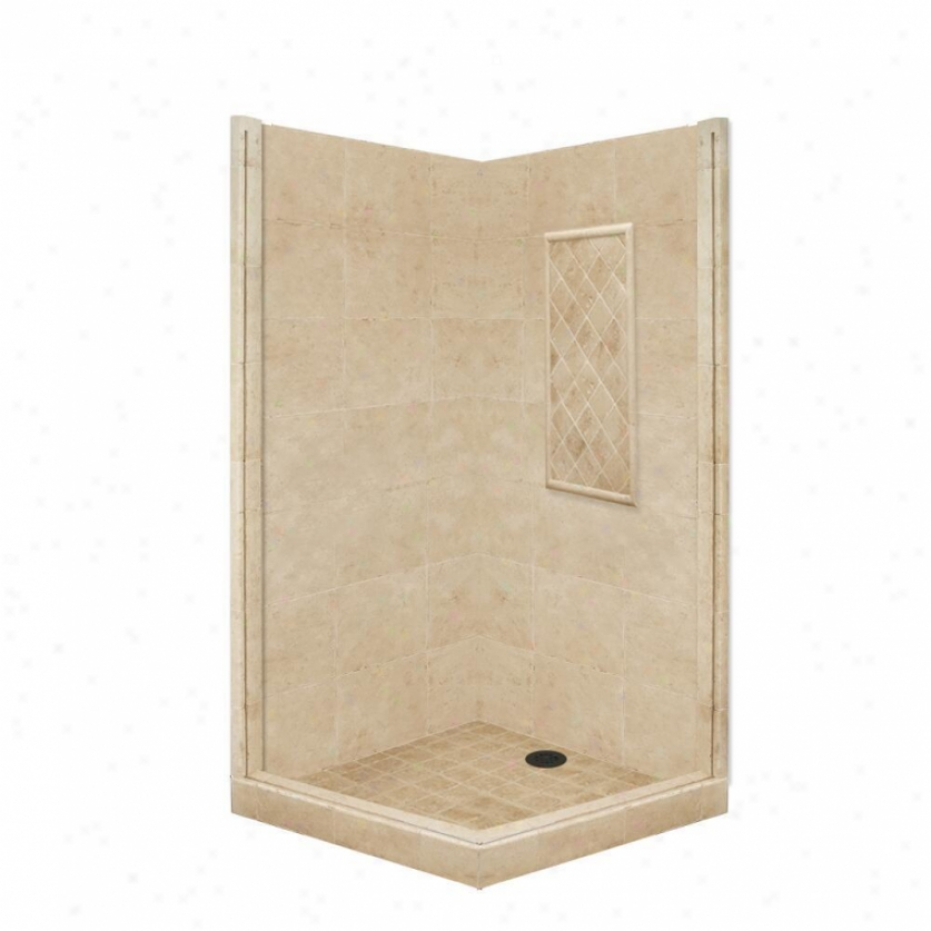 American Bath Factory P21-3803p-ob 60l X 30w Basic Shower Package WithO ld Earth Brobze Accessorie