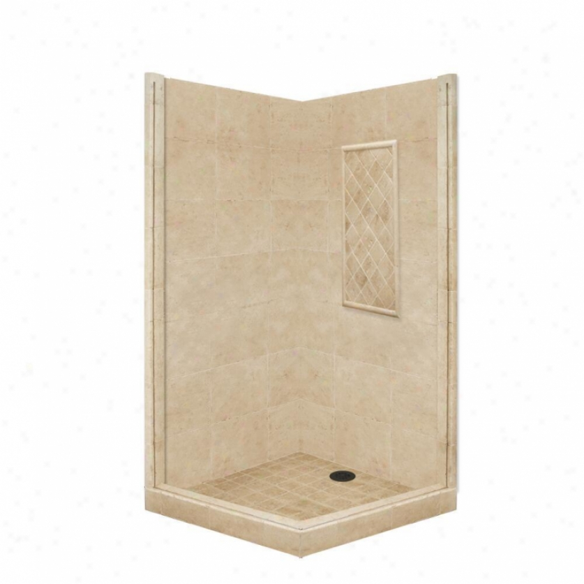 American Bath Factory P21-3814p-ob 60l X 34w Basic Shower Package With Old Natural order Bronze Accessorie