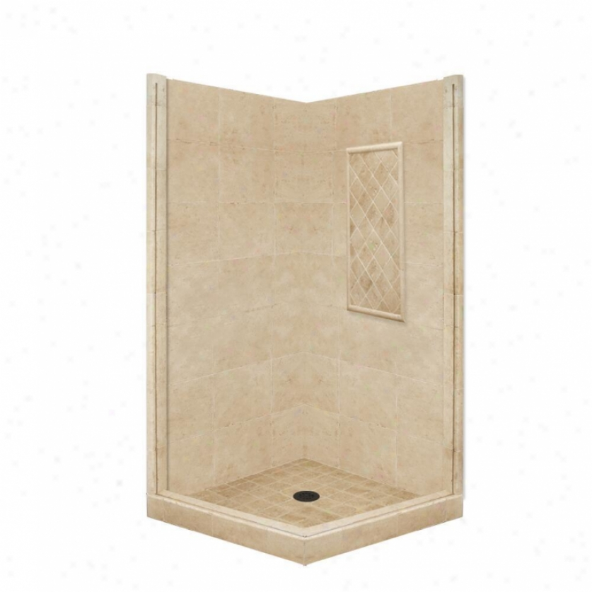American Bath Factory P21-3826p-ob 54l X 54w Basic Shower Package With Old World Bronze Accessorie