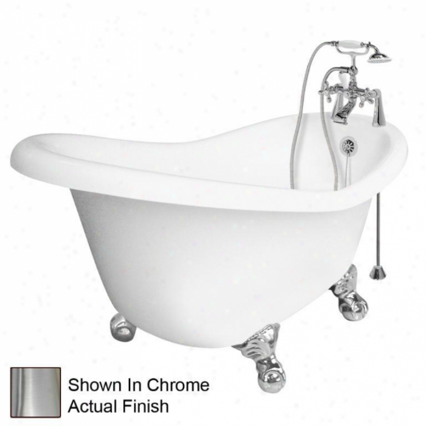 American Bath Fatory T020b-sn Marilyn Bathtub Faucet Packsge 1 In White
