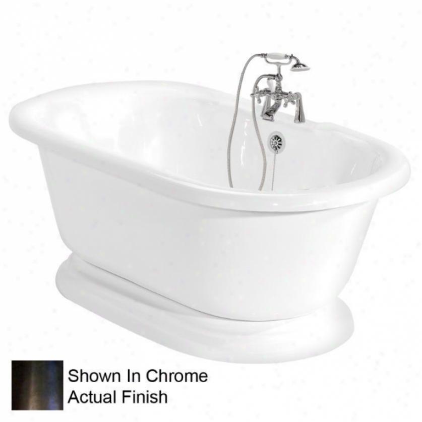 American Bath Factory T100b-ob Nobb Hill Bathtub Faucet Package 1 In White