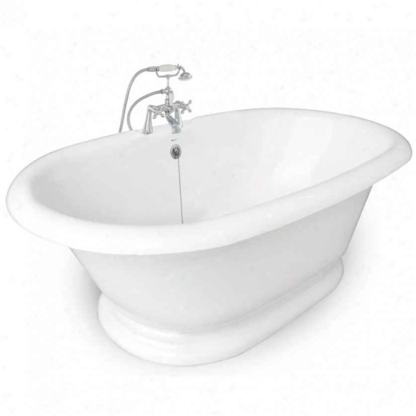 American Btah Factory T120b-ch Inheritance Bathtub Faucet Package 1 In White
