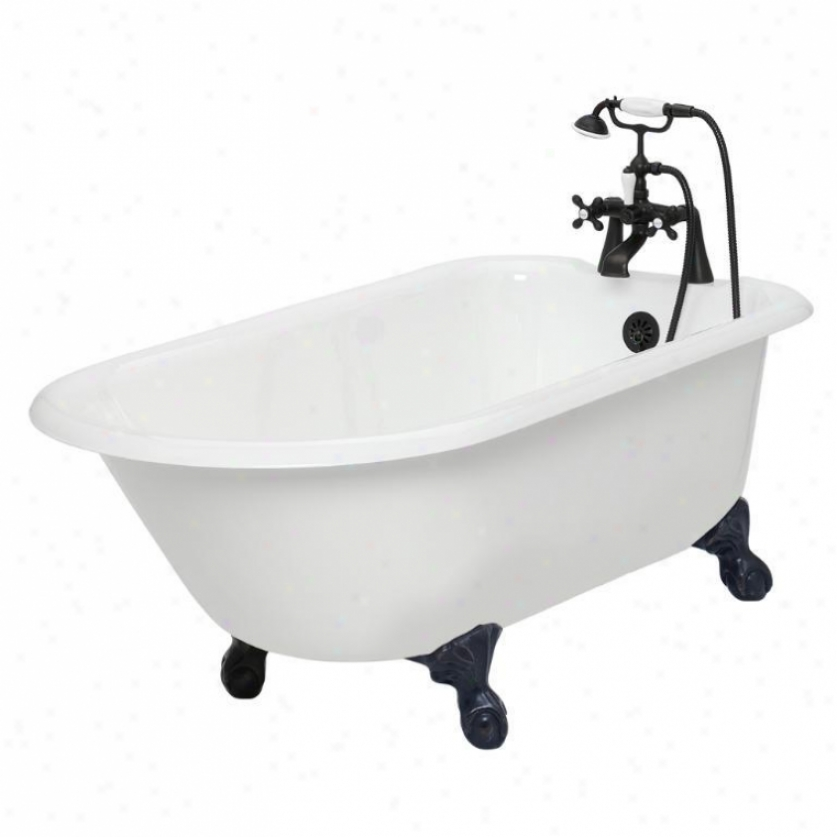 American Bath Factory T140b-ob Windsor Bathtub Faucet Package 1 In White