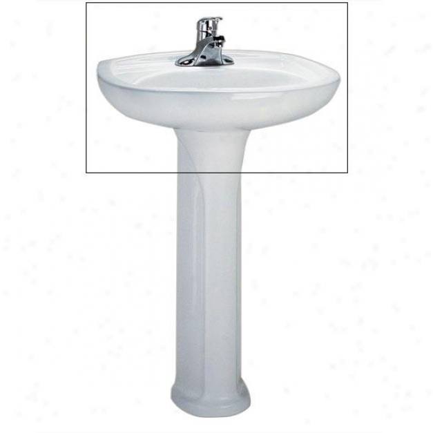 American Standard 0113.808.020 Colony 24 Pedestak Sink, White
