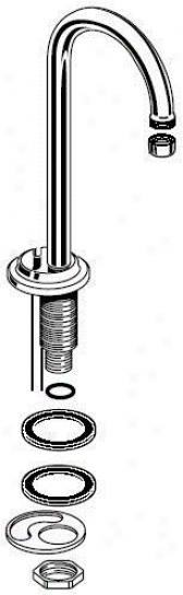 American Standard 012124-0020a Gooseneck Spout Less Drain, Chrome