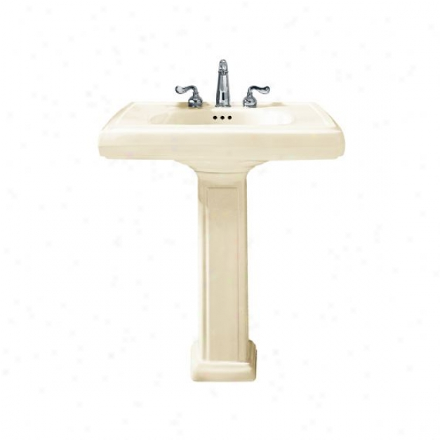 American Standard 0191.134.222 Heritage Pedestal Sink With 8 Centers, Linen