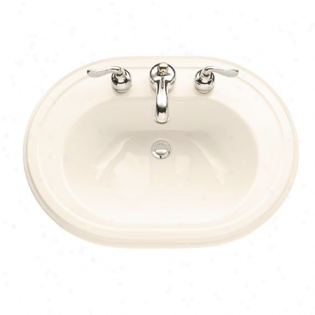 Americam Sttandard 0456.017.222 Heritage Countertop Sink With 8 Centers Linen