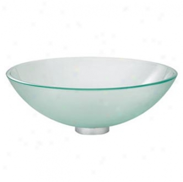American Standard 0978000.200 China Round Vessel With Drain, Clear