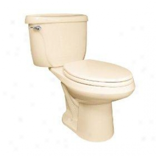 American Standard 2377.100.021 Cadet Right Heighg Pressure Assisted Elongated Toilet, Bone