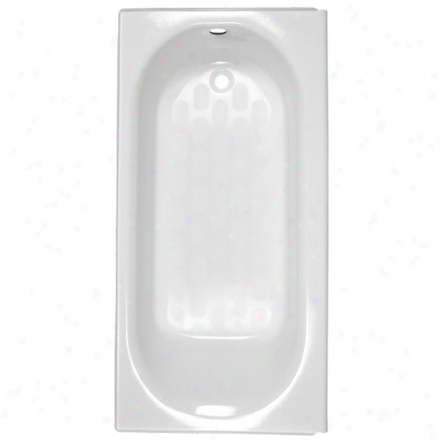 American Standard 2392.202ich.020 Princeton Whole Drain Bath With Apron And Chrome Integral Overf
