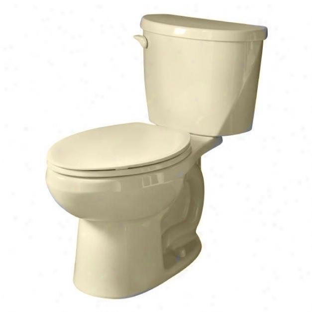 American Standard 2426.012.021 Evolution 2 Round Front Toilet (1.6 Gpf/6.0lpf), Bone