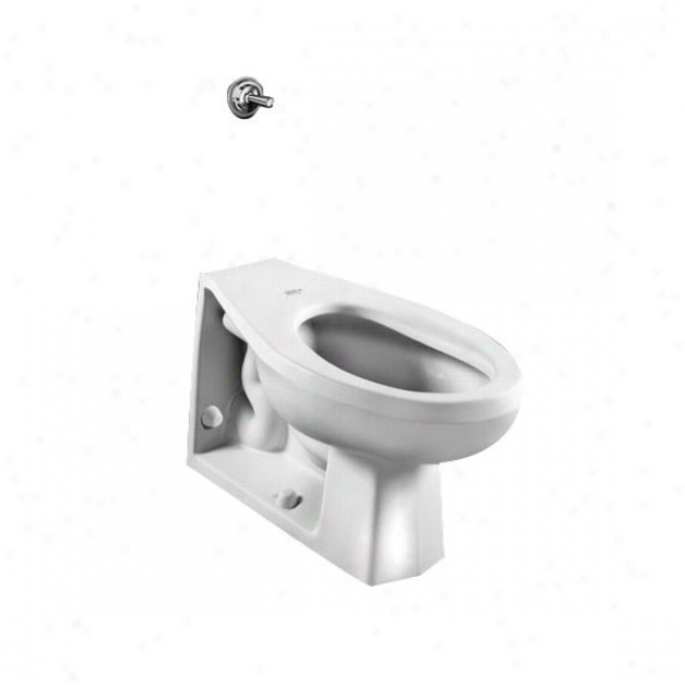 American Standard 2531.116.020 Neolo 1.6 Gpf Elongated Toilet With Back Spud And Wall Outlet, White