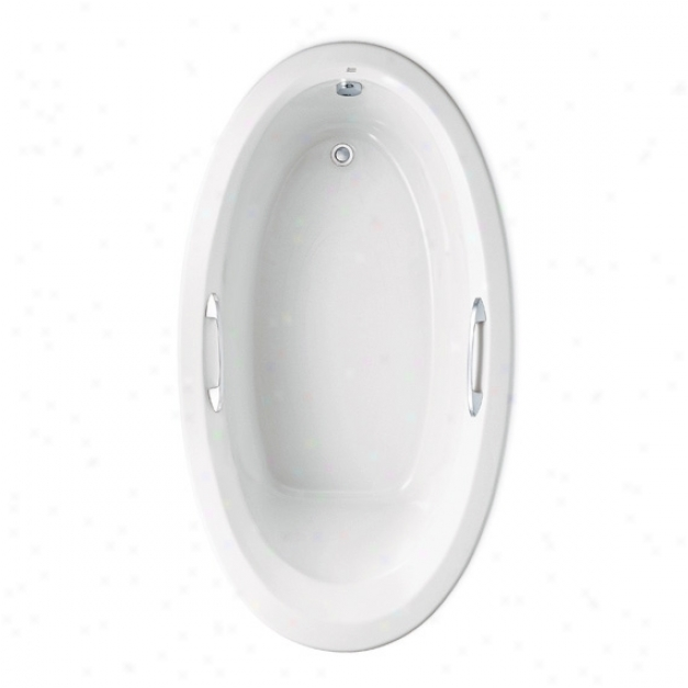 American Standard 2709.048wc.011 Ellisse Oval Ecosilent Whirlpool, Arcti cWhite