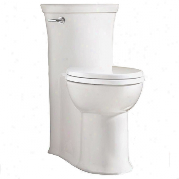 American Standard 2786.128.020 Tropic Flowise Straight Height Elongated One-piece Toilet, White