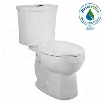 American Sttandard 2889.216.020 H2option Siphonic Dual Flush Round Front Toilet, Of a ~ color